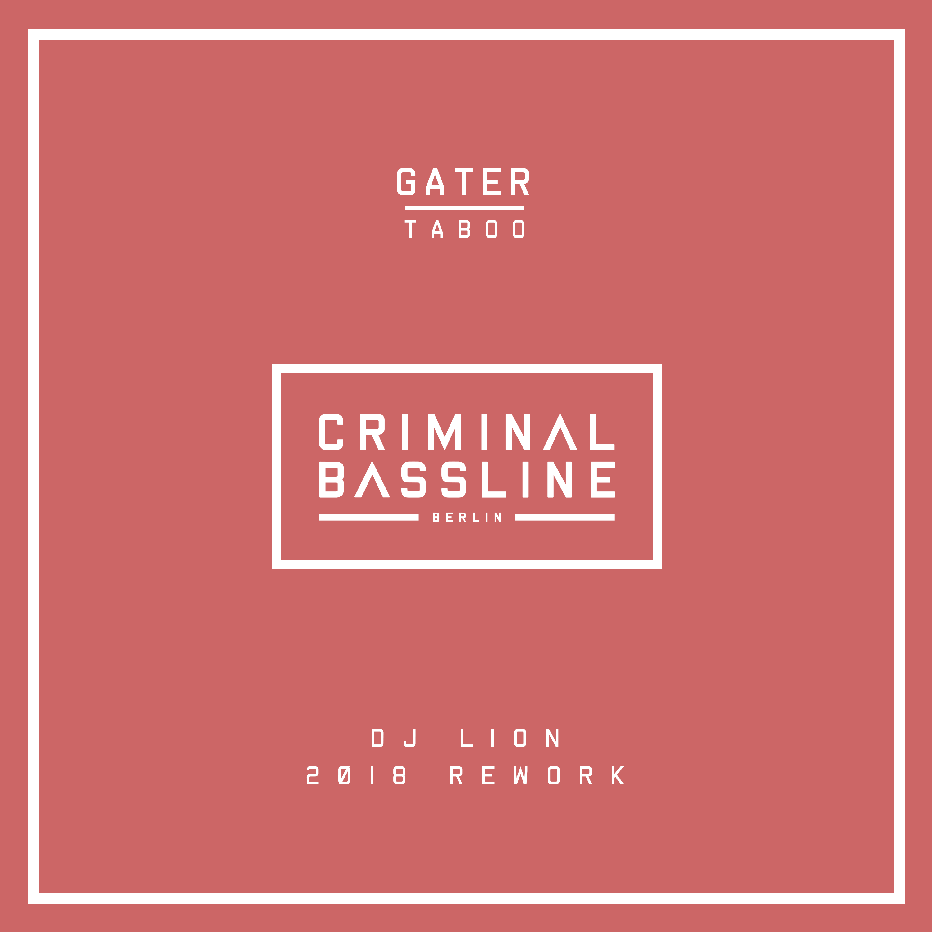 DOWNLOAD: GATER – TABOO (DJ LION 2018 Rework)